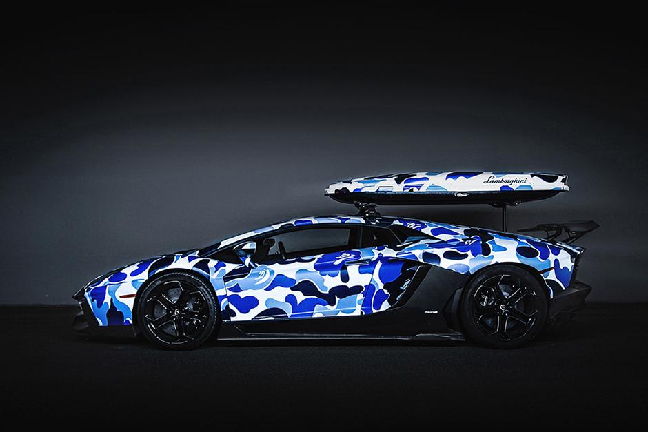 Lamborghini Aventador Bape Camo Zen Garage