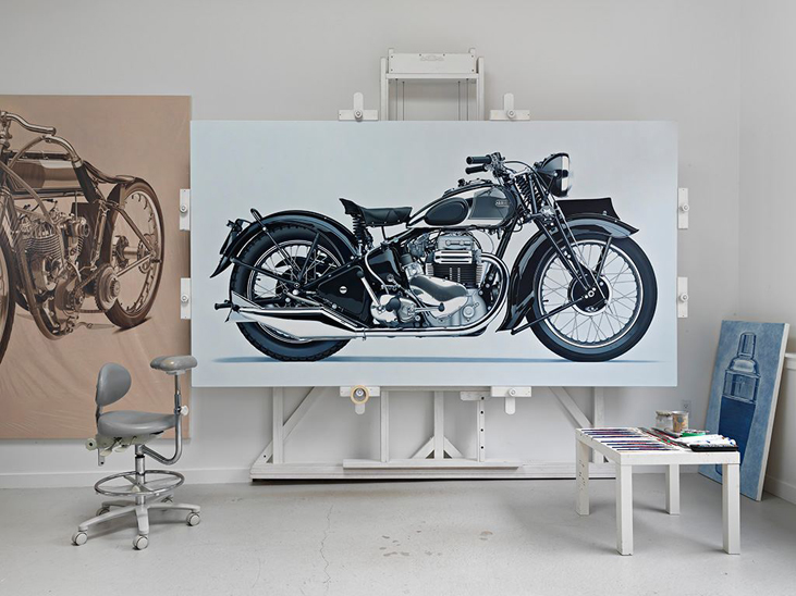 Metal Motorcycle Pop Out Painting