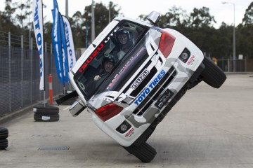 Ebru Dallikavak on two wheels with Team D-MAX stunt man Dave Shannon at ...