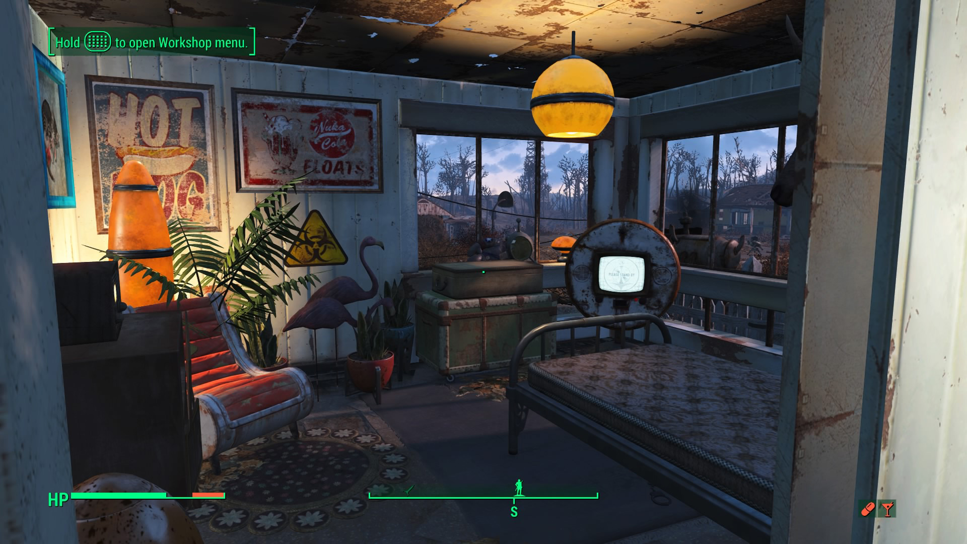 Fallout 4 zen garage for Fallout 4 bedroom ideas